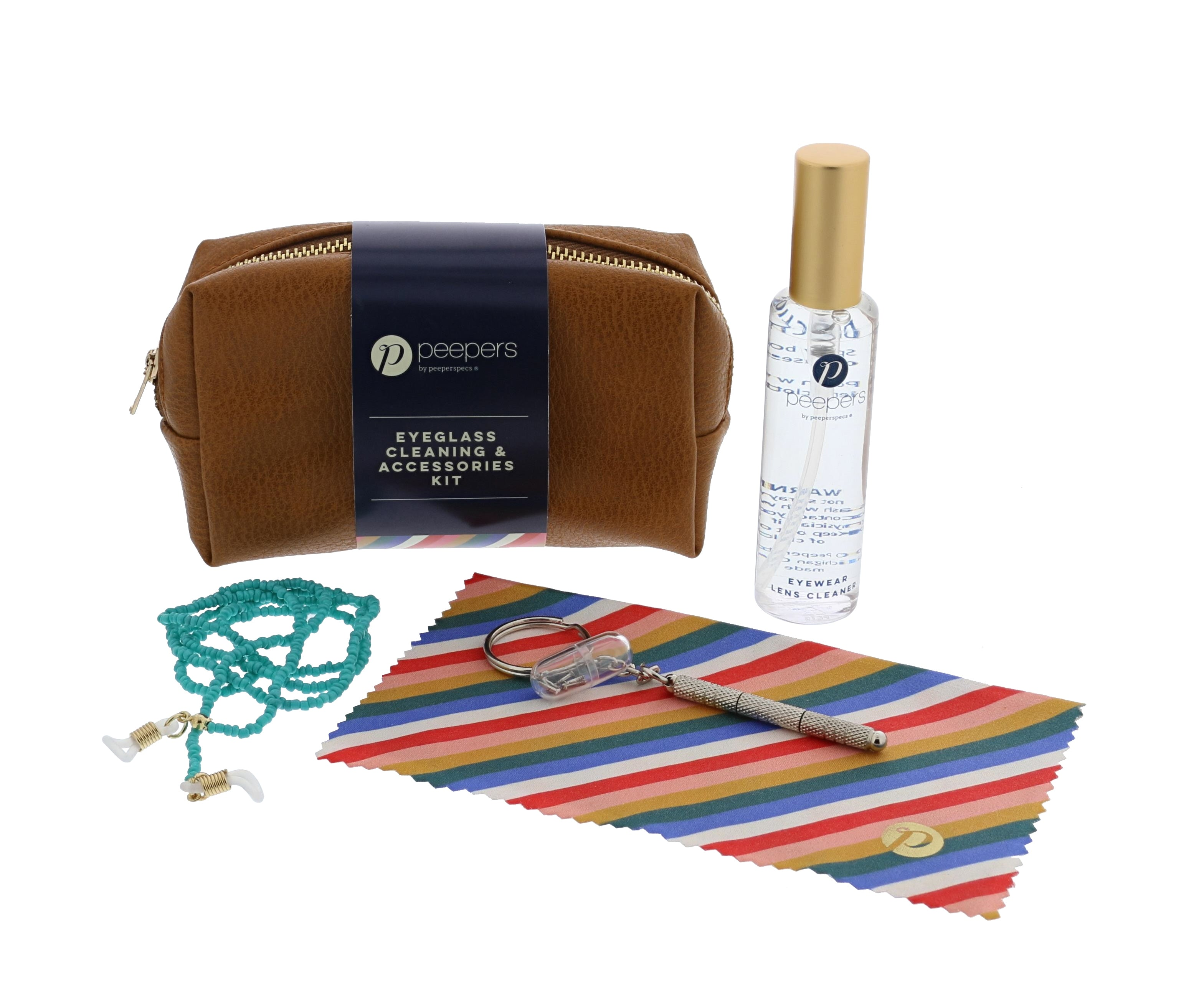 Peepers accessory cleaning and care kit for glasses