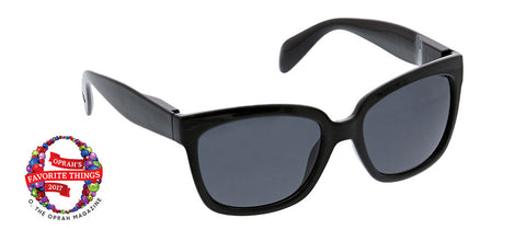 Peepers Palmetto black sunglasses Oprah's Favorite on white background