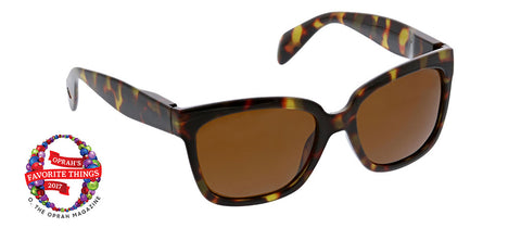 Peepers Palmetto tortoise sunglasses Oprah's Favorite on white background