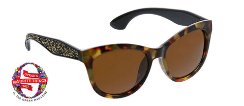 Peepers Caliente tortoise sunglasses Oprah's Favorite on white background