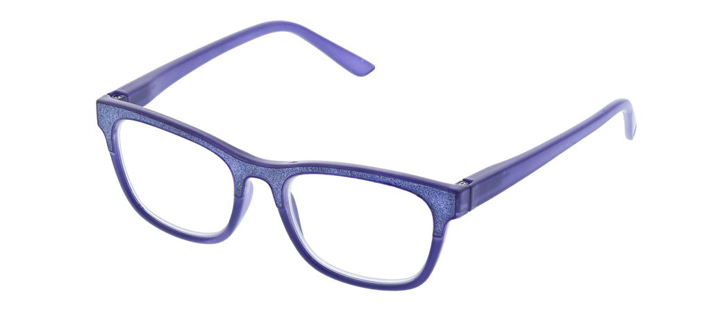 Peepers by PeeperSpecs Foxy Mama blue light reading glasses in purple
