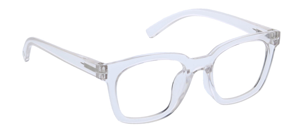 Peepers by PeeperSpecs To The Max blue light reading glasses in clear