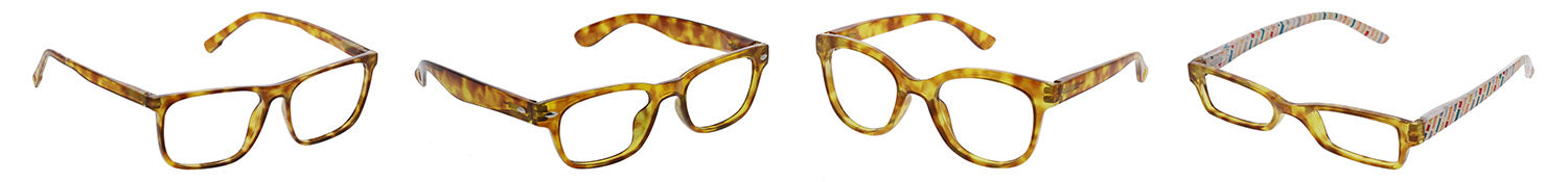 Honey tortoise Peepers blue light reading glasses