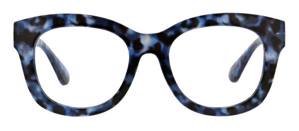 Center Stage blue light reading glasses by Peepers