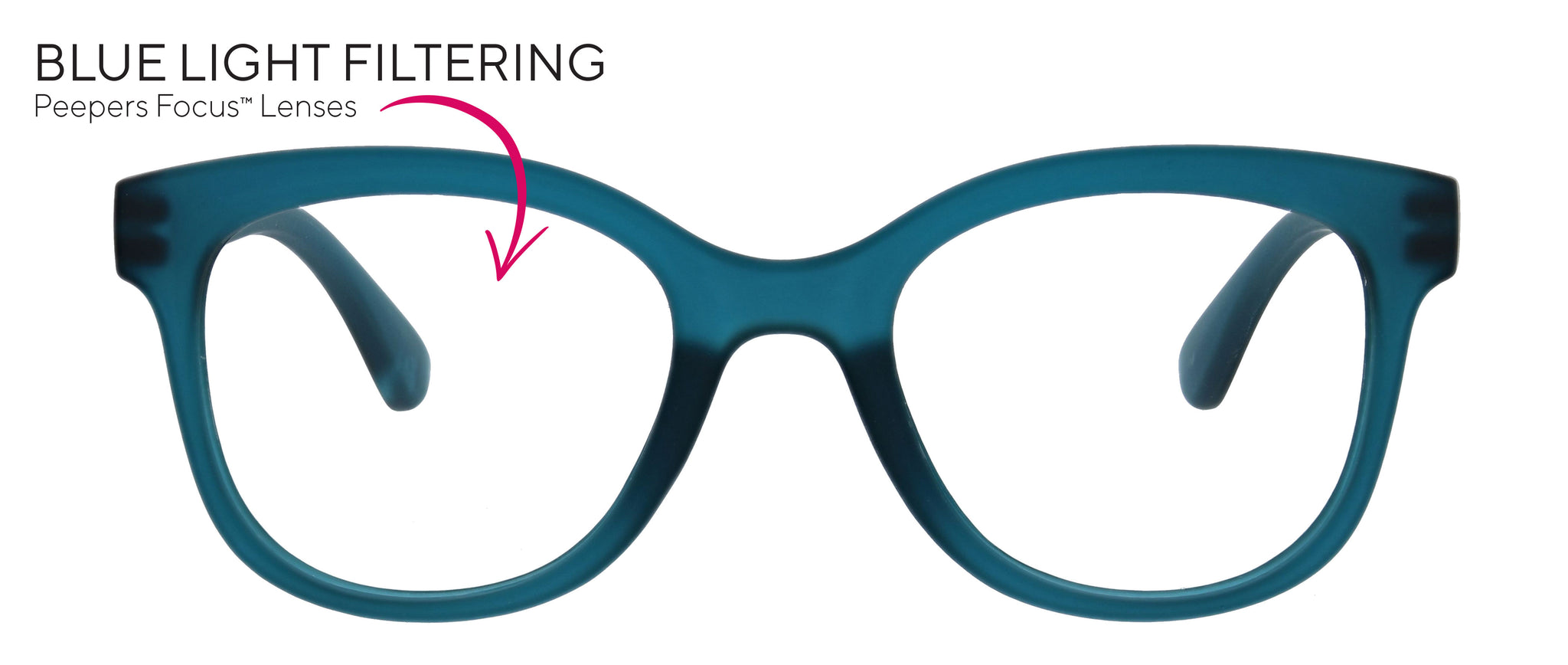 Peepers Brocade blue light reading glasses with Focus™ lenses