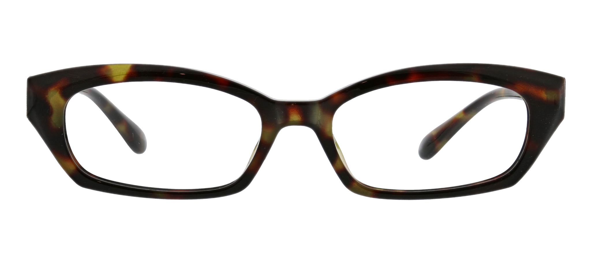 Viewpoint half-frame rectangular tortoise blue light reading glasses by Peepers