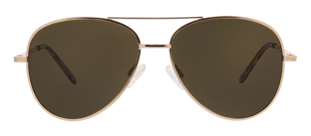Peepers Heat Wave sunglasses in gold and amber