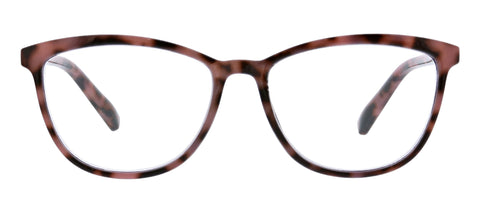 Peepers Bengal blue light glasses in pink tortoise