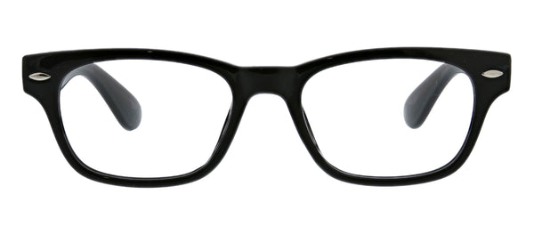 Peepers by PeeperSpecs Clark in black blue light reading glasses