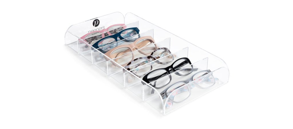 Peepers acrylic tray to store reading glasses
