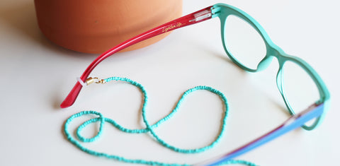 Peepers colorblock blue light glasses with eyeglass cord
