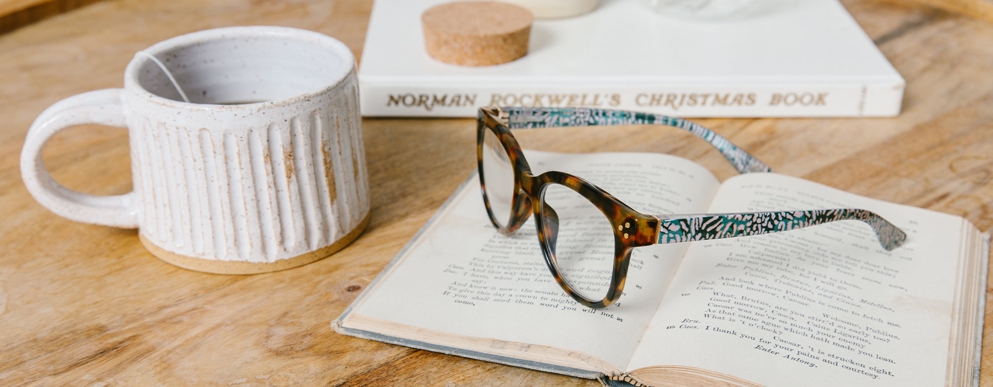 Peepers reading glasses on a book