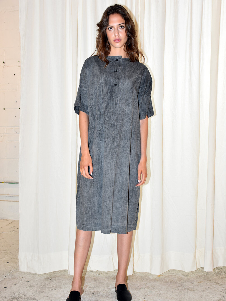 Placket Dress in Acid