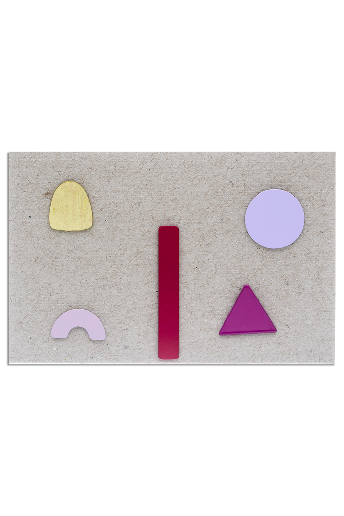 Geometric set post earrings, Assorted Pinks