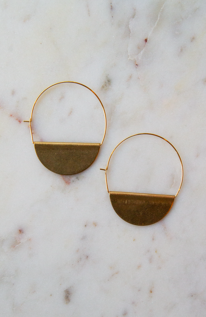 Medium Half Moon Earrings
