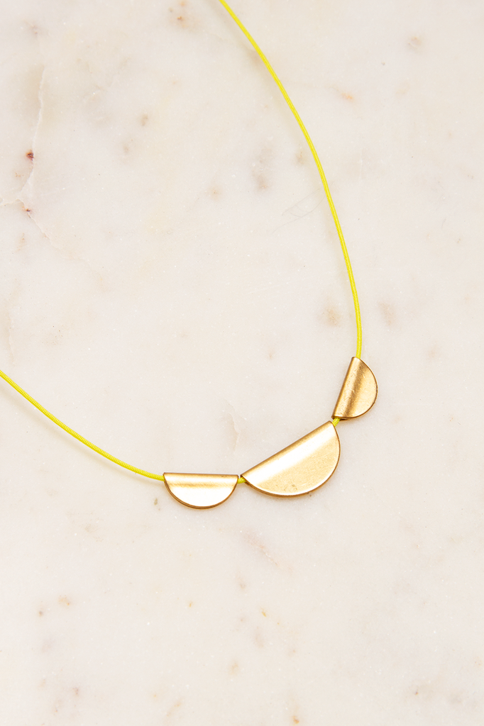 Brass Half Moon Necklace