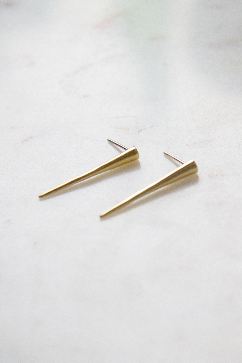 Small Single Spike Studs