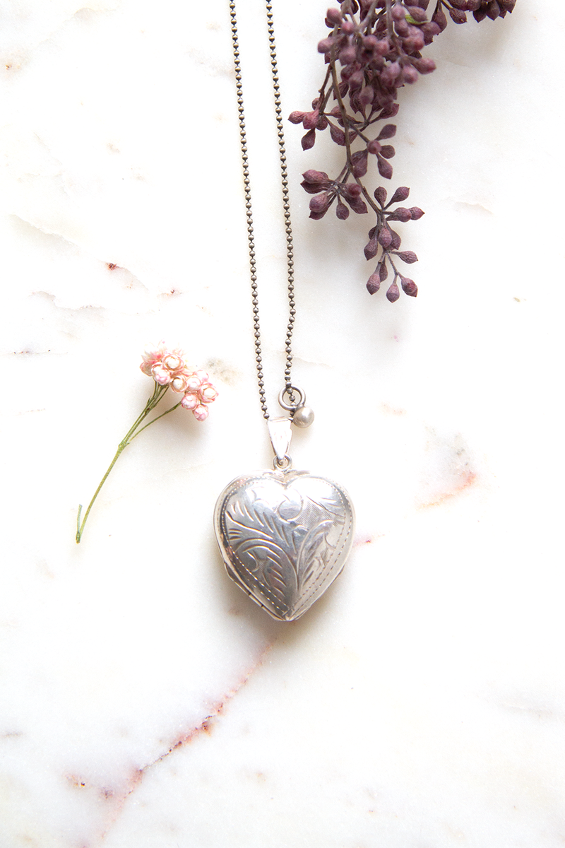 Silver Double Love Locket