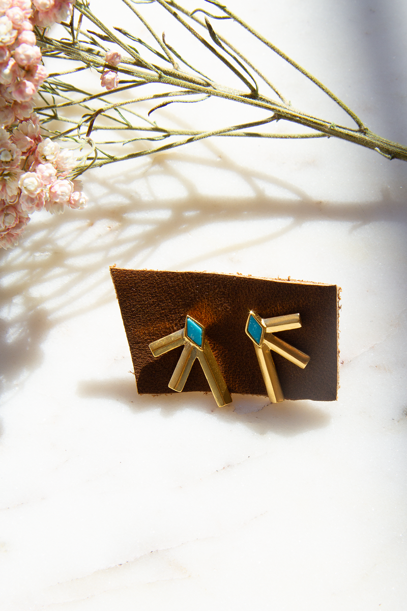 Bandit Earrings, Gold