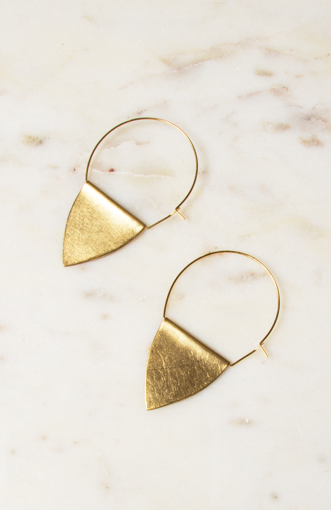 Brass Flag Hoops