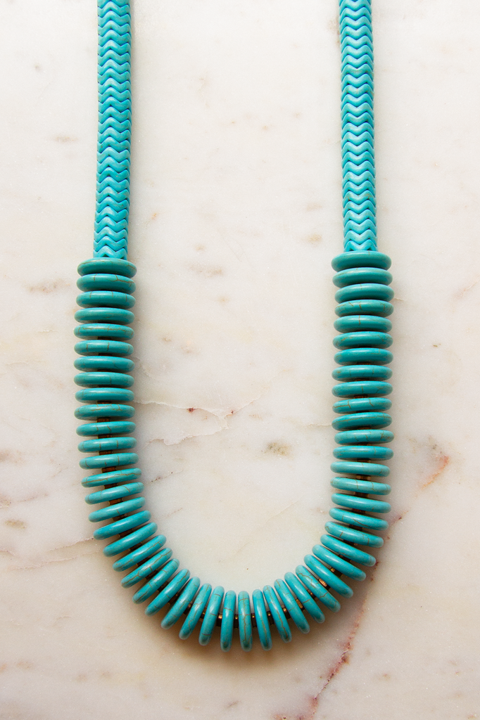 Blue Magnesite Necklace