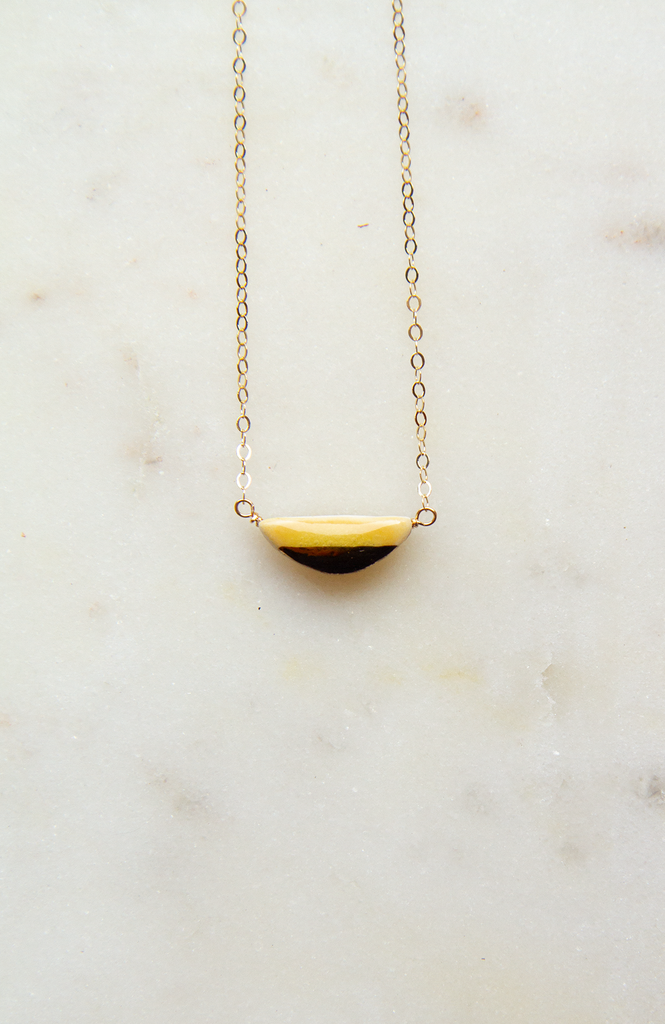 Teeny Half-Pebble Necklace