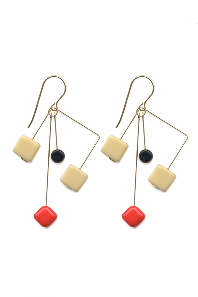 Glass Bead Mobile Earrings