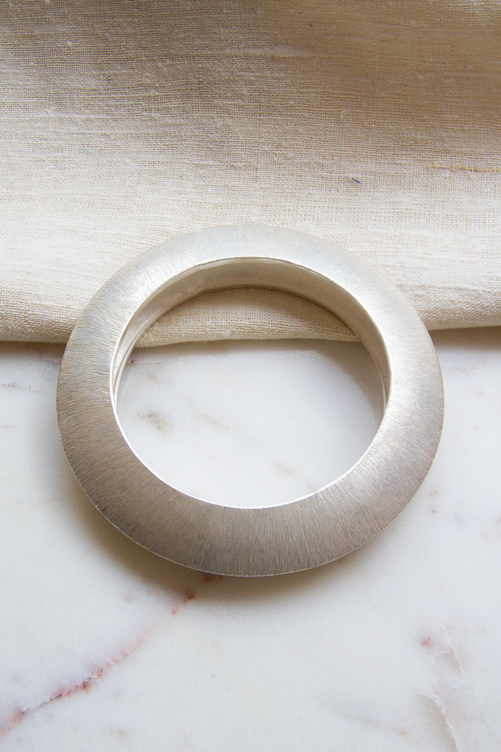 Brushed Silver Bangle