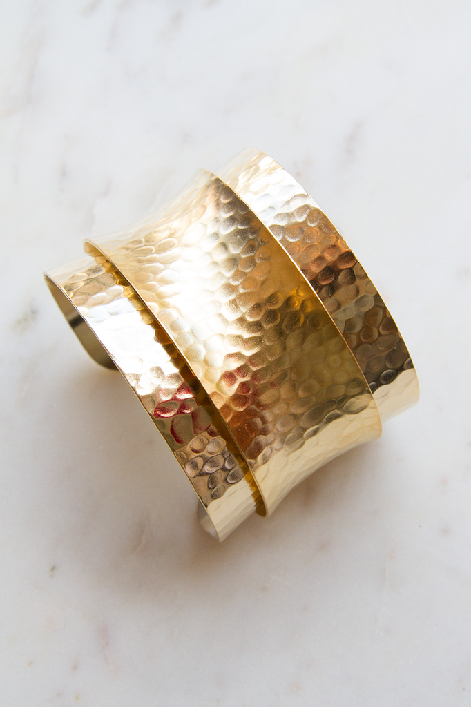 Layered Hammered Cuff