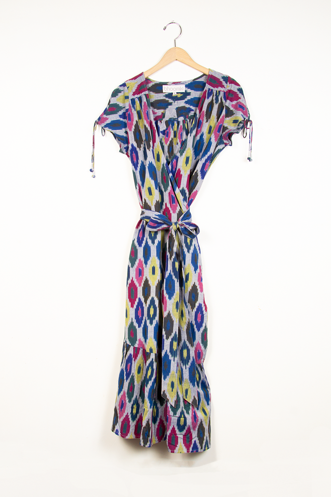 Ikat Wrap Dress
