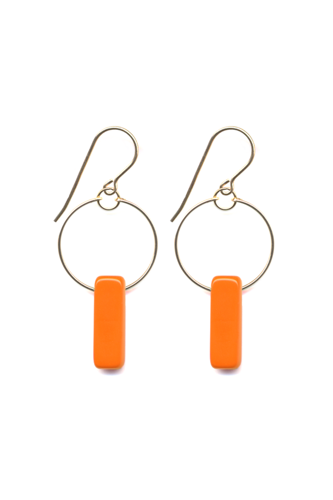 Orange Bar Hoops