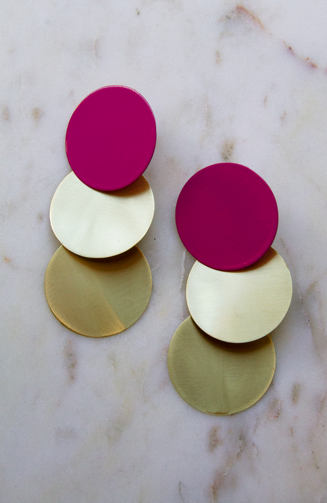 Three circle earring LG