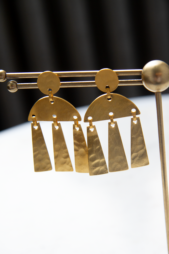 Medium Mid-Century dangle studs