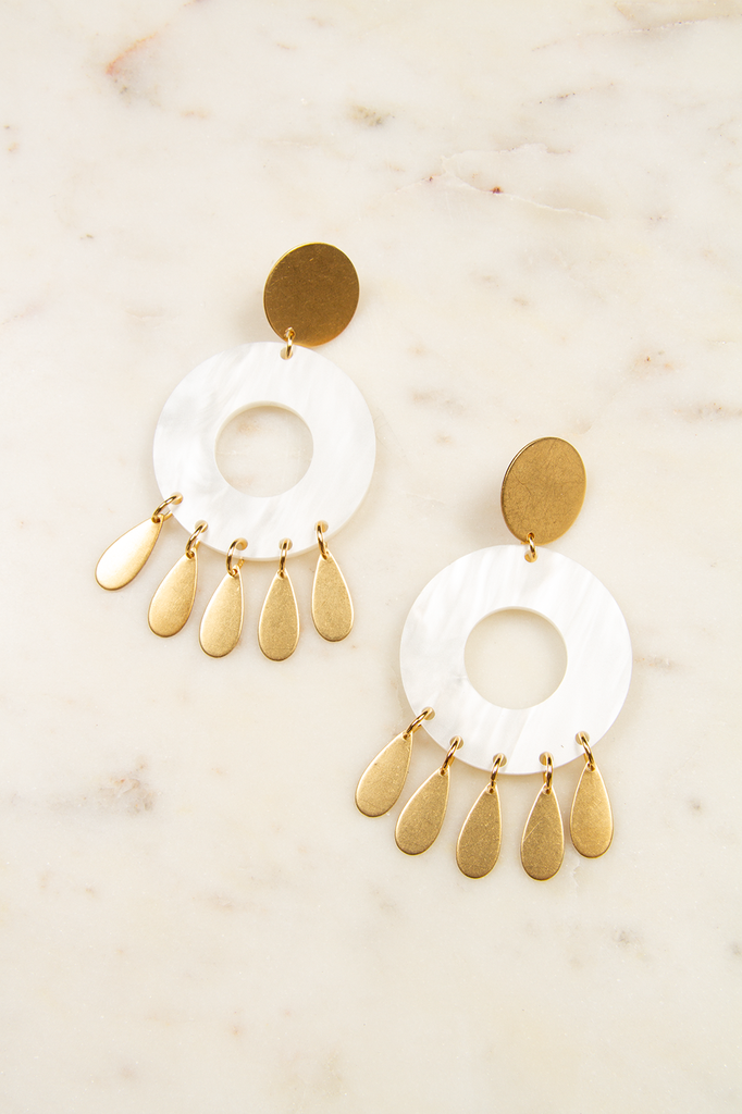 Lucite Clip-on Earrings