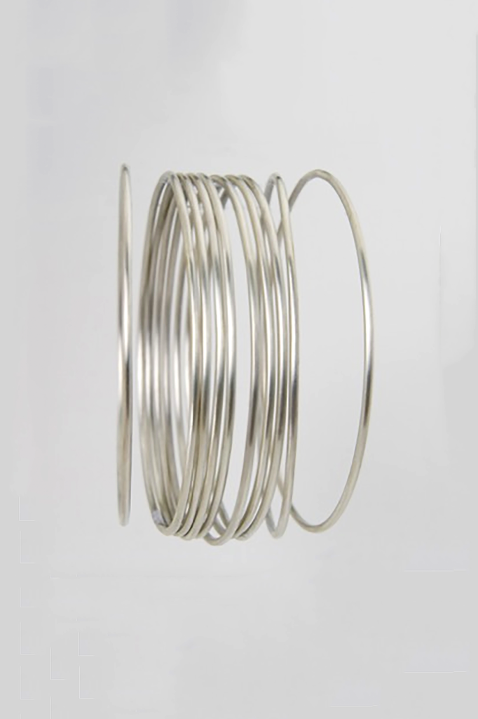 Simple Round Wire Bangle