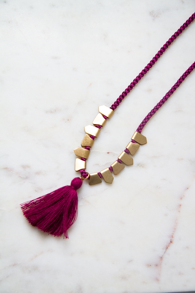 Cord with Brass and Tassle