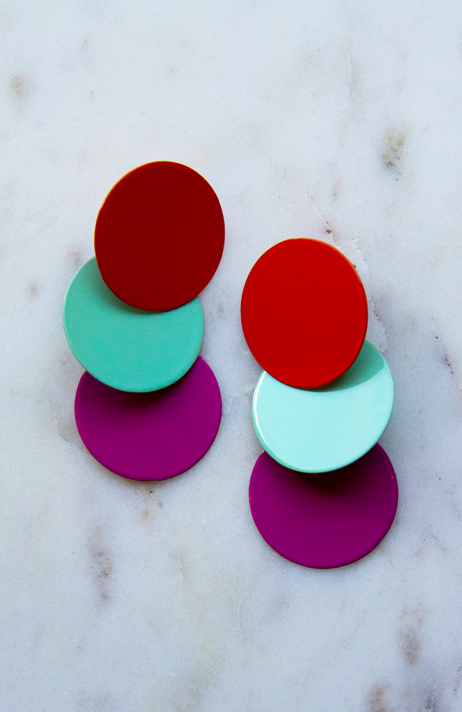 Three circles Sm earring