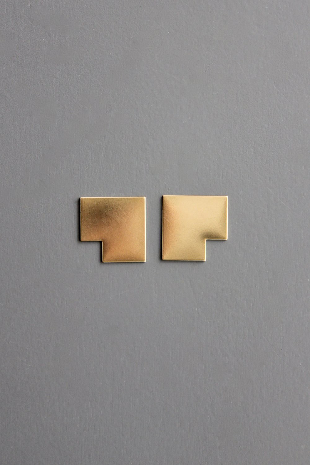 L Shaped Post Earrings