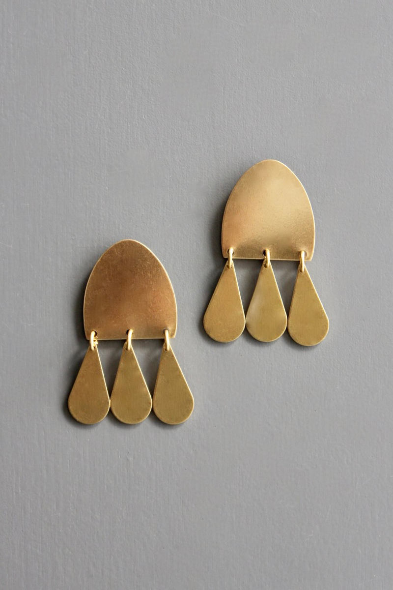 Three Teardrop Dangle Earrings