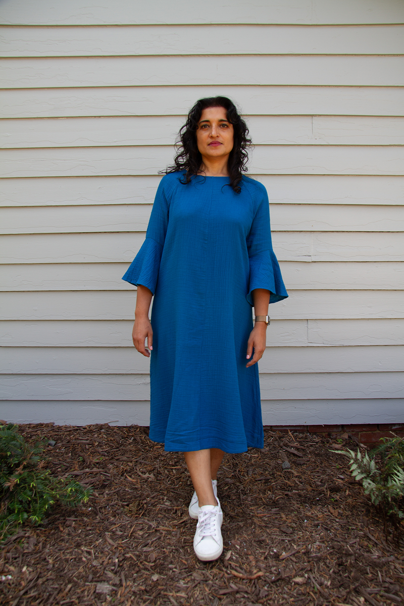 Cascade Dress, Laguna Blue