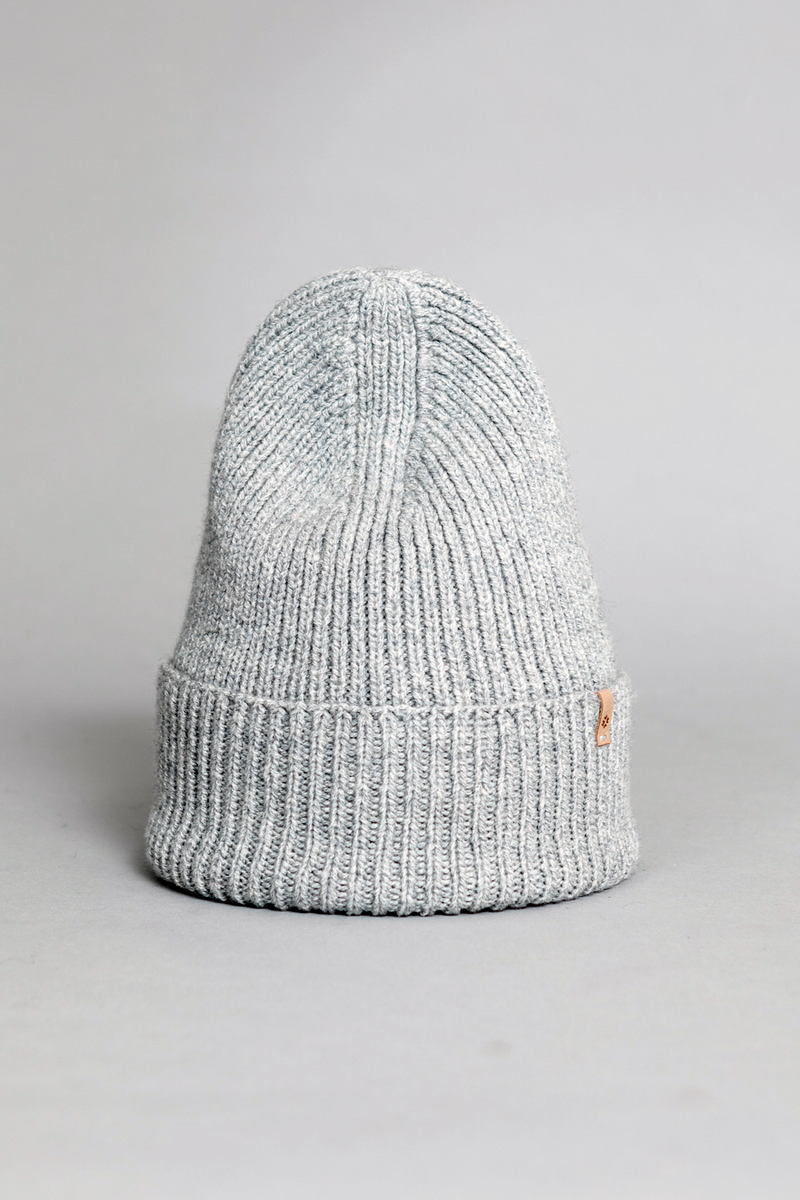 Merino Rib Hat, Flint Grey