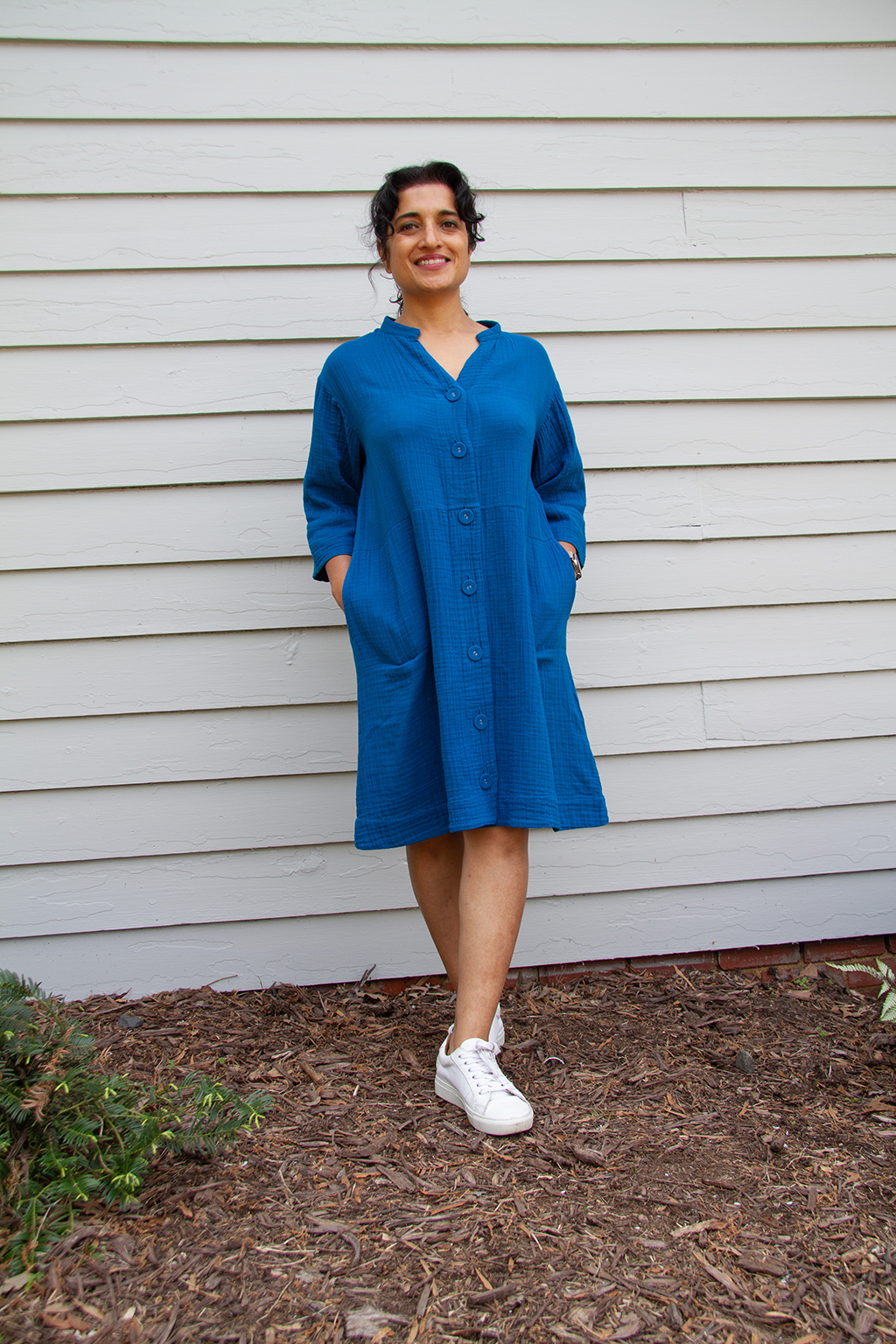 Duster Dress, Laguna Blue