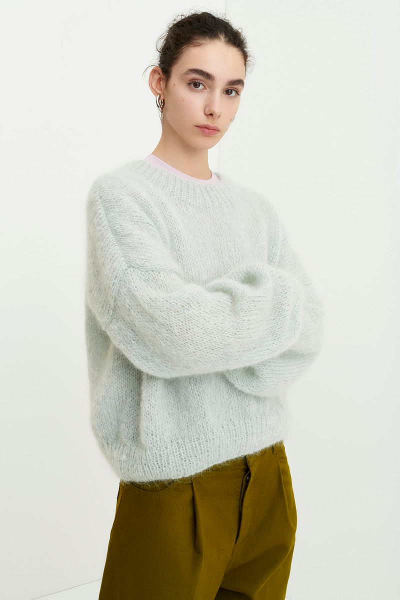 Cloud Hand-Knit Sweater, Mist