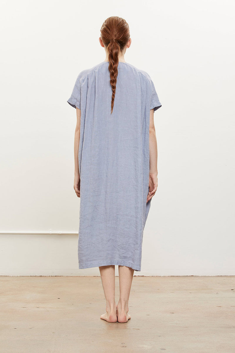 Origami Dress in Linen, Lavender