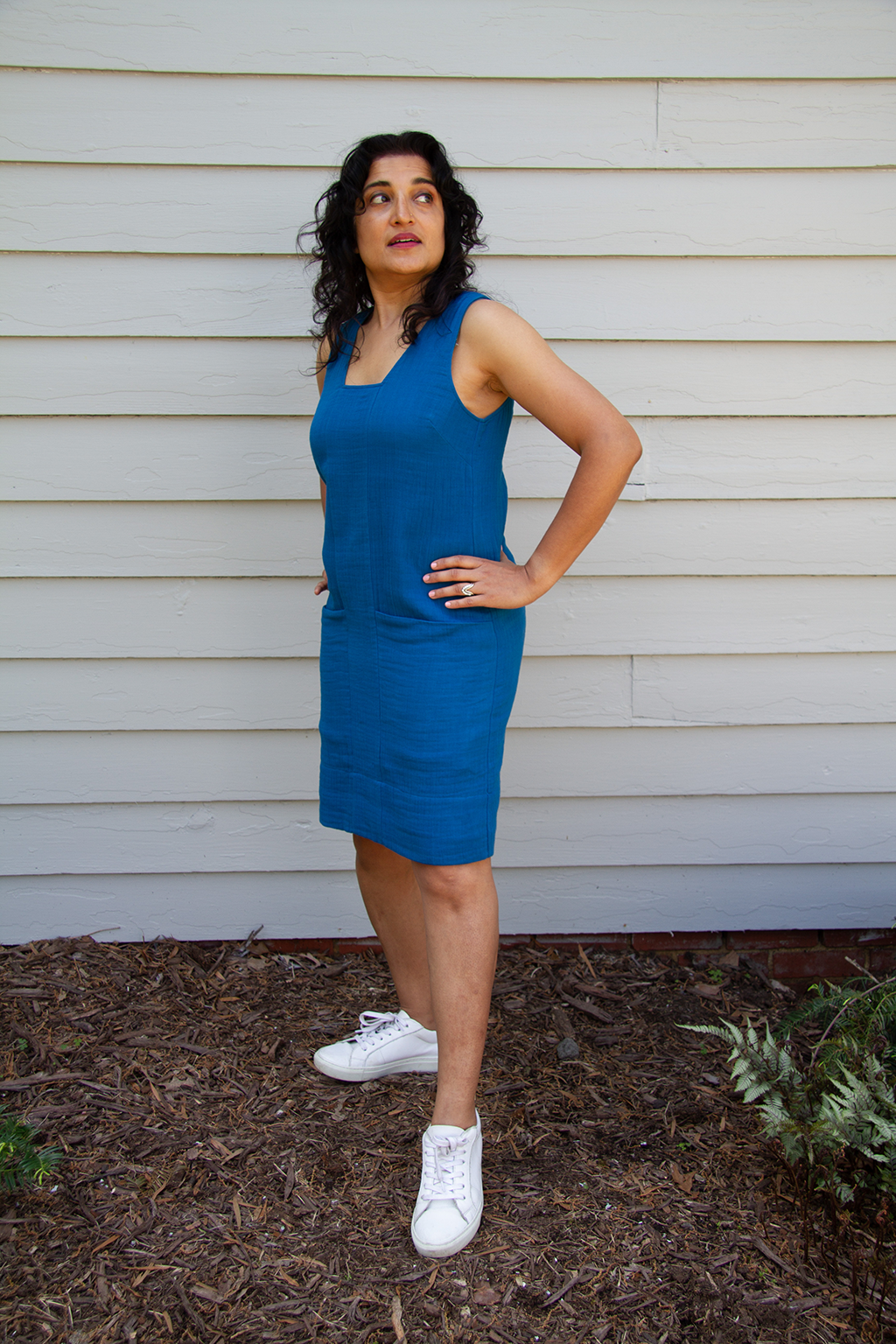 Leela Dress, Laguna Blue