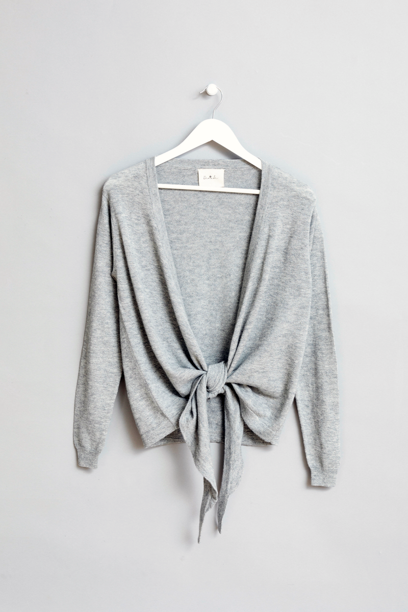Merino Wrap Cardigan, Flint Grey