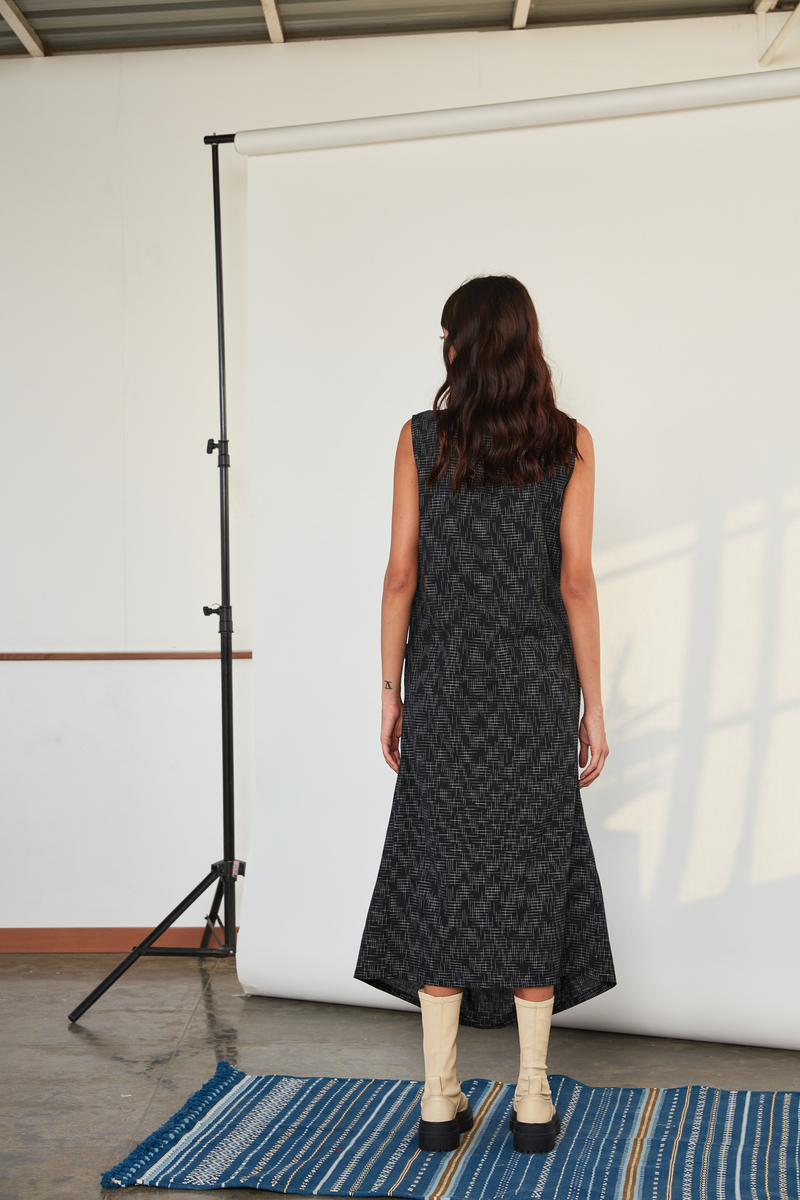 Criss Cross Dress, Black Ikat