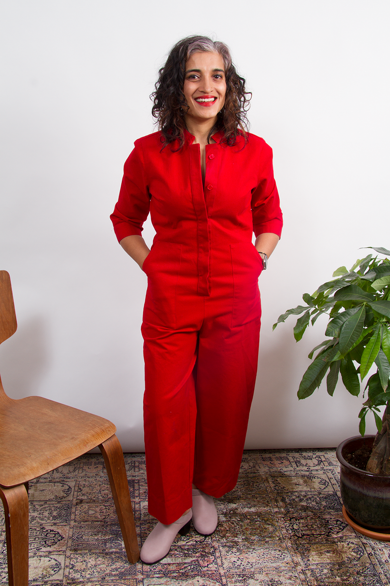 Pre-Order: Rosie Jumpsuit Straight in Red