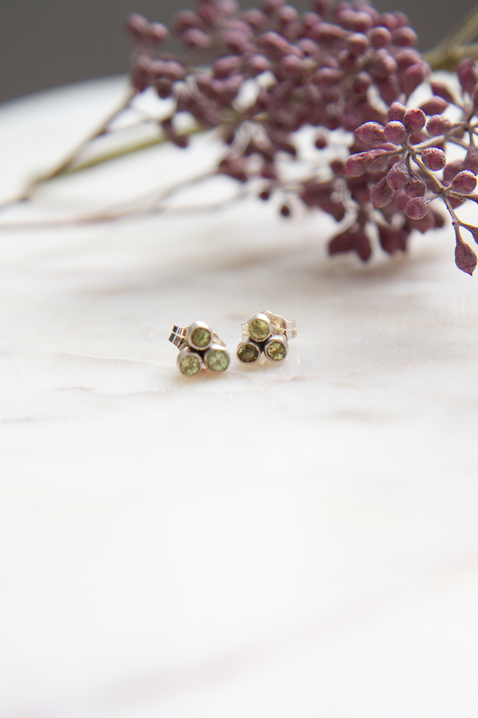 Faceted Clover Earrings