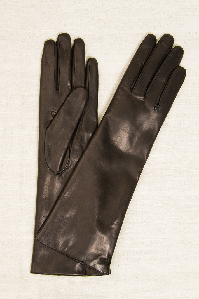 Long Rabbit Fur Lined Gloves